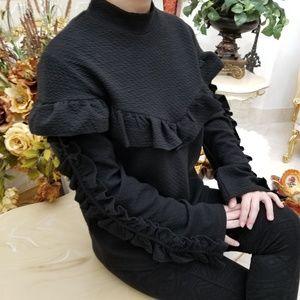 e51736c3dd9 LUMIE Tops - Lumie Ruffle-Trim Women s Sweatshirt